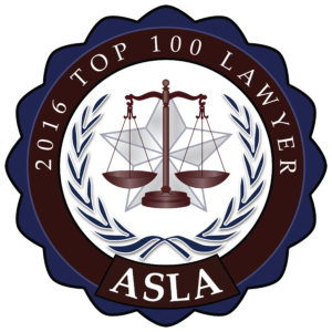 ASLA Top 100 Lawyer Placard